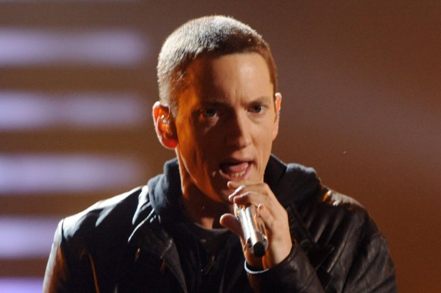 Eminem has released an animated lyric video for Alfred's Theme. File Photo by Jim Ruymen/UPI