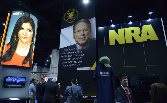 The National Rifle Association in February tripled the amount of donations it received, the same month as the deadly high school shooting in Florida that killed 17. Photo by Mike Theiler/UPI