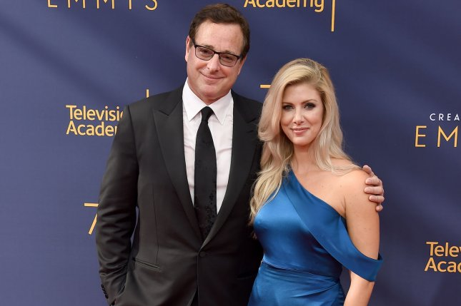 Bob Saget (L) and Kelly Rizzo tied the knot Sunday in Santa Monica. File Photo by Gregg DeGuire/UPI