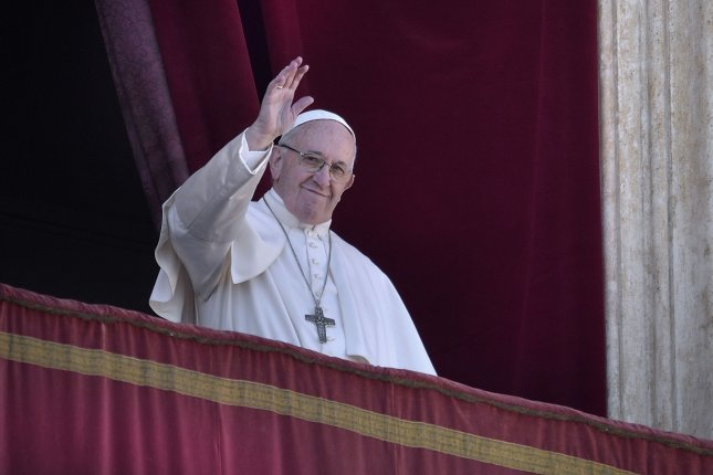 Pope Francis delivers his Urbi et Orbi (for the city and the world) Christmas Day message at St. Peter's Basilica in Vatican City on December 25, 2018. File Photo by Stefano Spaziani/UPI