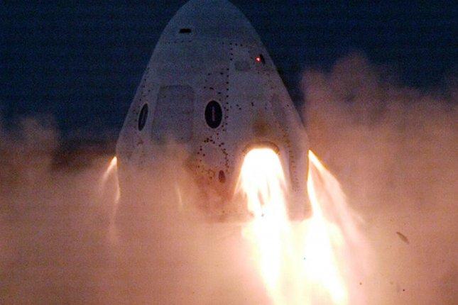 SpaceX completed a series of static fire engine tests of the Crew Dragon spacecraft on Wednesday, just before to new report that criticized delays in the space program. Photo courtesy of SpaceX