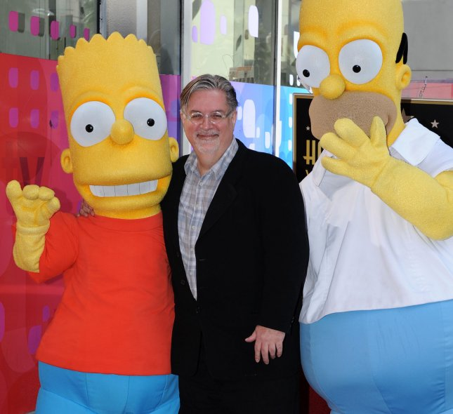 The Simpsons, created by Matt Groening, has been renewed for two more seasons. File Photo by Jim Ruymen/UPI