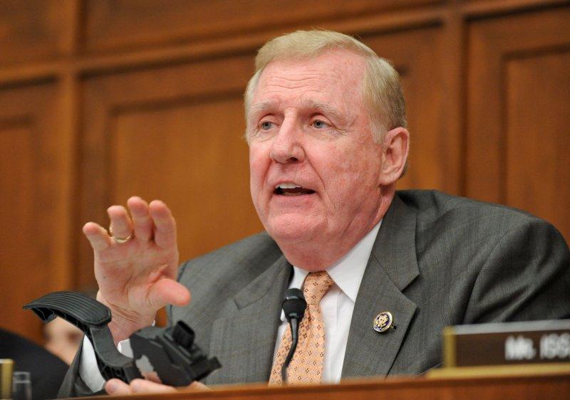 Rep. Dan Burton, R-Ind., on Capitol Hill in Washington, Feb. 24, 2010. UPI/Alexis C. Glenn