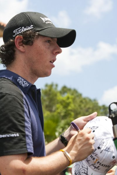Rory McIlroy, shown in a May 2010 file photo, improved one spot to No 7 in the world men's golf ranking rankings released Monday. UPI / Mark Wallheiser