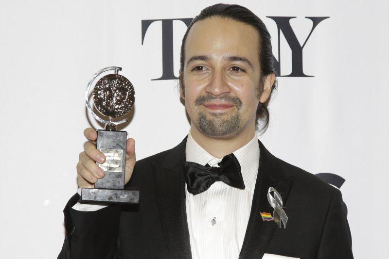 Lin-Manuel Miranda arrives in the press room after winning a Tony Award for Hamilton at the 70th Annual Tony Awards at the Beacon Theatre on June 12, 2016 in New York City. Photo by John Angelillo/UPI