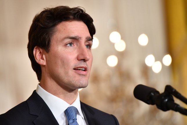 Canadian Prime Minister Justin Trudeau pleged to outdo his precessor Stephen Harper and his father when he spoke during the CERAWeek conference in Houston. Photo by Kevin Dietsch/UPI
