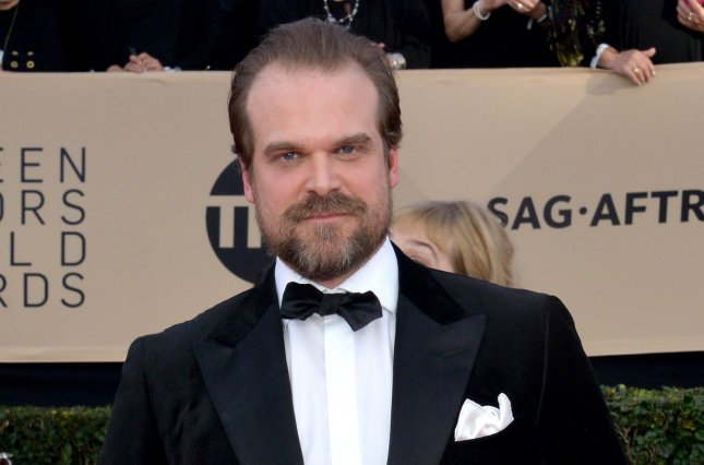 David Harbour stars as the title character in the first trailer for Hellboy alongside Ian McShane. File Photo by Jim Ruymen/UPI