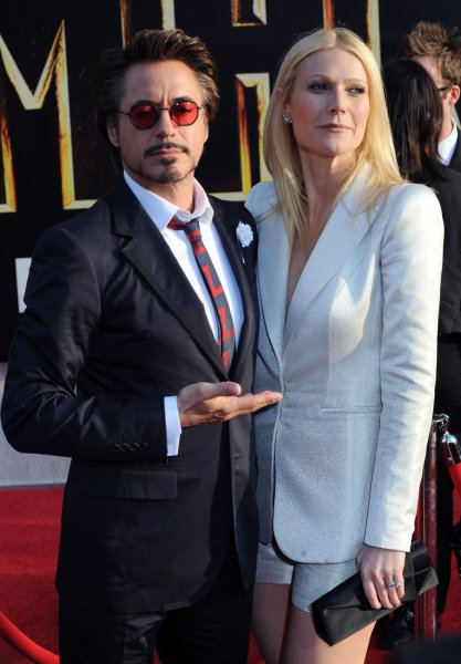 Robert Downey Jr. (L) and Gwyneth Paltrow, who co-star in the motion picture sci-fi thriller Iron Man 2, attend the premiere of the film at the El Capitan Theatre in the Hollywood section of Los Angeles on April 26, 2010. UPI/Jim Ruymen