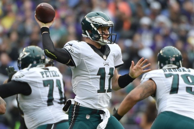 Philadelphia Eagles quarterback Carson Wentz (11) set an NFL rookie record  when he completed a pass in the Eagles  opening drive e1091e446