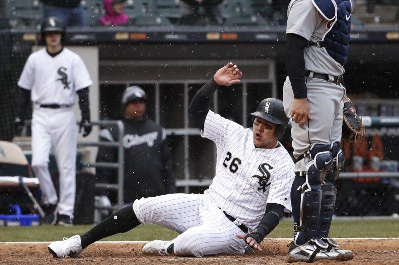Chicago White Sox right fielder Avisail Garcia (26). Photo by Kamil Krzaczynski/UPI