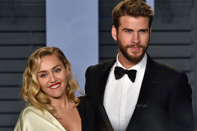 Miley Cyrus and Liam Hemsworth celebrated Cyrus' 26th birthday Thursday. File Photo by Christine Chew/UPI