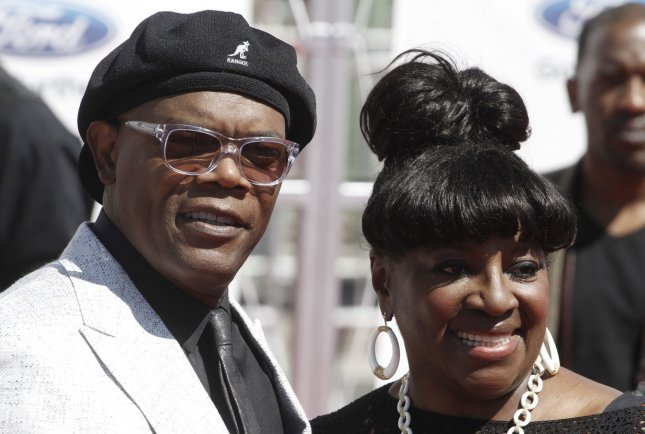Actor Samuel L. Jackson and Latanya Richardson arrive for the BET Awards 12 at the Shrine Auditorium in Los Angeles on July 1, 2012. UPI/Jonathan Alcorn