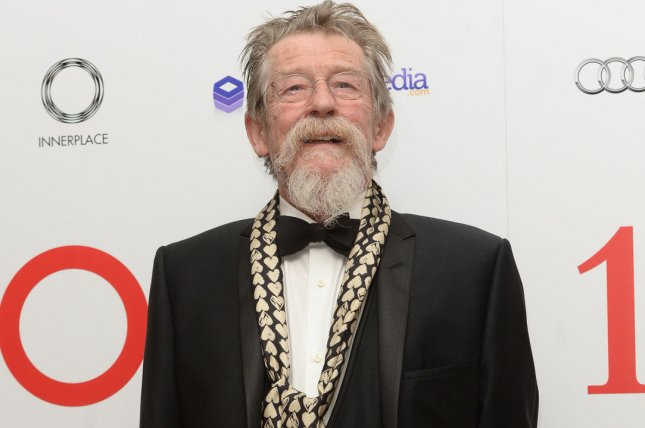 British actor John Hurt attends The London Critics Circle Awards on February 2, 2014. Hurt has died at the age of 77. File Photo by Rune Hellestad/UPI