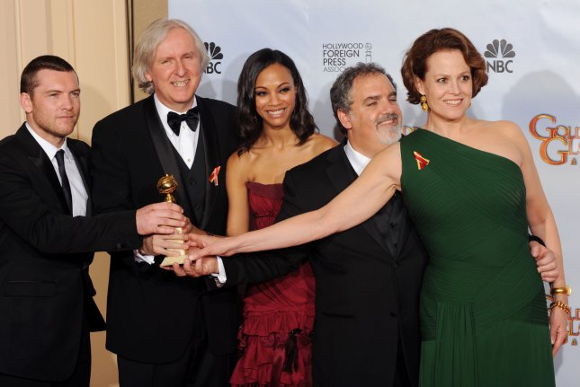 The cast of Avatar which won the Best Motion Picture, Drama award at the 67th Annual Golden Globe Awards on January 17, 2010. Theme-park attractions based on the movie are to open May 27 at Disney's Animal Kingdom. File Photo by Jim Ruymen/UPI
