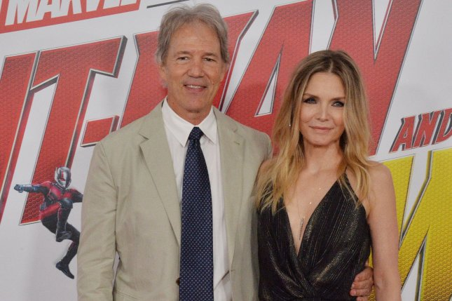 Michelle Pfeiffer (R) and David E. Kelley attend the Los Angeles premiere of Ant-Man and the Wasp on Monday. Photo by Jim Ruymen/UPI