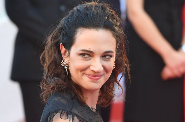 Asia Argento has said in a new television interview that she was the one sexually assaulted by actor Jimmy Bennett. File Photo by Rune Hellestad/ UPI