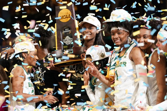 e98cc2aa The Baylor Lady Bears celebrate with the championship trophy after  defeating the Notre Dame Fighting Irish 82-81 to win the 2019 NCAA Women's  Basketball ...