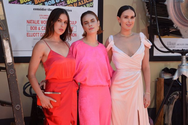 Rumer Willis (R), pictured with Scout Willis (L) and Tallulah Willis, attends the Los Angeles premiere of Once Upon a Time in Hollywood on Monday. Photo by Jim Ruymen/UPI