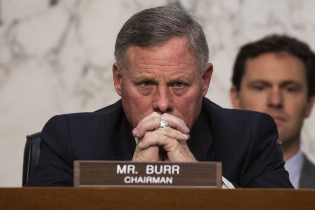 Sen. Richard Burr, R-N.C., said he sold his stock holdings based on news reports he read in CNBC. File Photo by Alex Edelman/UPI