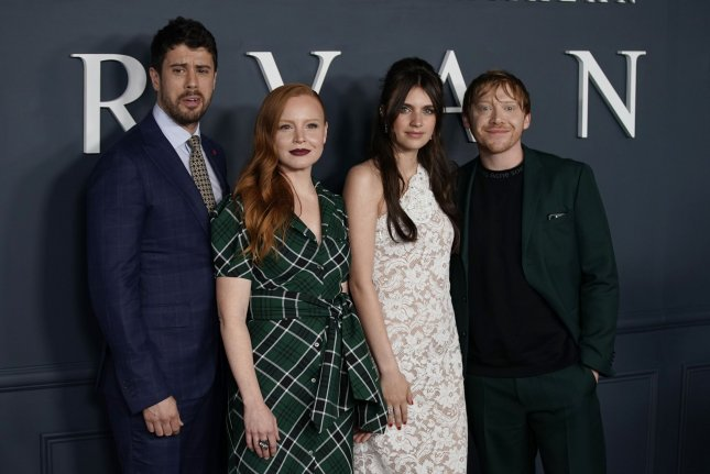 From left to right, Toby Kebbell, Lauren Ambrose, Nell Tiger Free and Rupert Grint arrive at the world premiere of Apple TV+'s Servant in 2019 in New York City. The show has been renewed for a third season. File Photo by John Angelillo/UPI