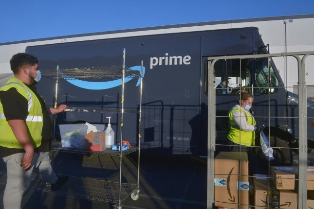 Amazon was one of several Fastly clients that experienced a temporary outage on Tuesday.File Photo by Jim Ruymen/UPI