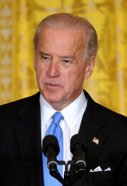Vice President Joe Biden delivers remarks at the Fiscal Responsibility Summit at the White House in Washington on February 23, 2009. Obama promised to cut the national deficit in half by the end of his term. (UPI Photo/Kevin Dietsch)