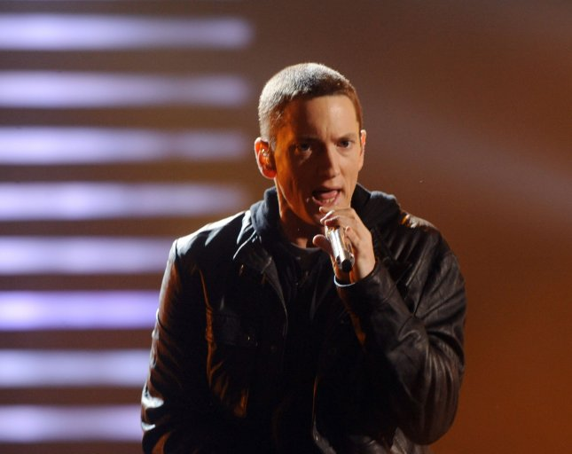 Eminem performs Not Afraid at the 2010 BET Awards in Los Angeles on June 27, 2010. UPI/Jim Ruymen