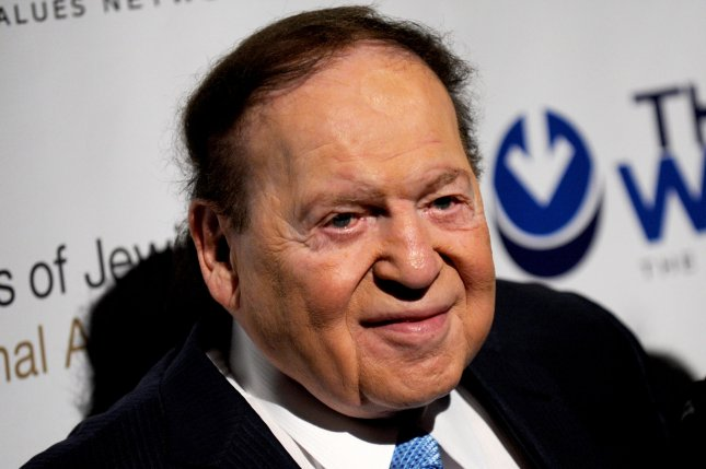 Sheldon Adelson arrives at the Second Annual Champions of Jewish Values Awards Gala in New York City on May 18, 2014. UPI/Dennis Van Tine