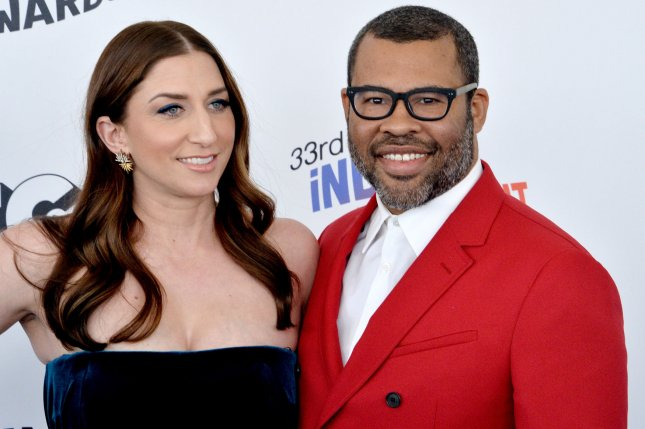 Actor Chelsea Peretti (L) and actor/writer/director Jordan Peele attend the 33rd annual Film Independent Spirit Awards in Santa Monica, Calif. on Saturday. Photo by Jim Ruymen/UPI