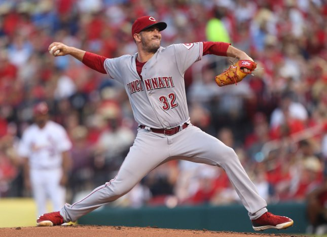 Matt Harvey and the Cincinnati Reds take on the Milwaukee Brewers on Wednesday. Photo by Bill Greenblatt/UPI