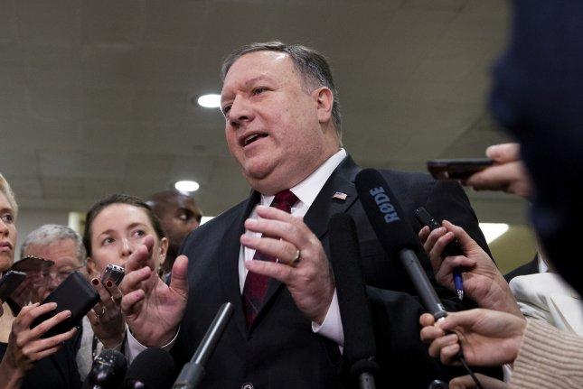 Secretary of State Mike Pompeo said the United States will withdraw from the INF Treaty if Russia does not comply with the agreement. Photo by Alex Edelman/UPI