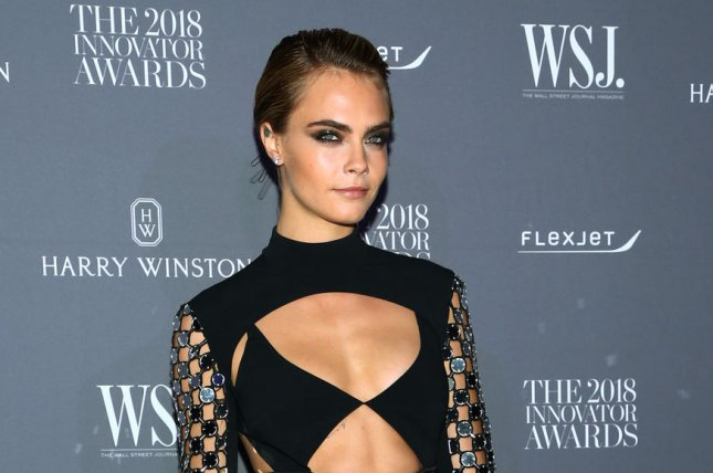 Cara Delevingne discussed her girlfriend, Pretty Little Liars alum Ashley Benson, and sex positivity in the September issue of Marie Claire. File Photo by Monika Graff/UPI