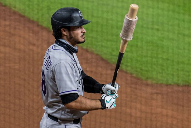 All-Star third baseman Nolan Arenado, who was traded by the Colorado Rockies this off-season, said he has started to mesh better with his new St. Louis Cardinals teammates over the last two weeks. File Photo by Trask Smith/UPI