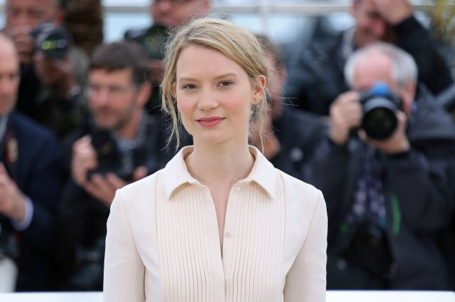 Mia Wasikowska arrives at a photo call for the film Maps to the Stars during the 67th annual Cannes International Film Festival in Cannes, France on May 19, 2014. File Photo by David Silpa/UPI