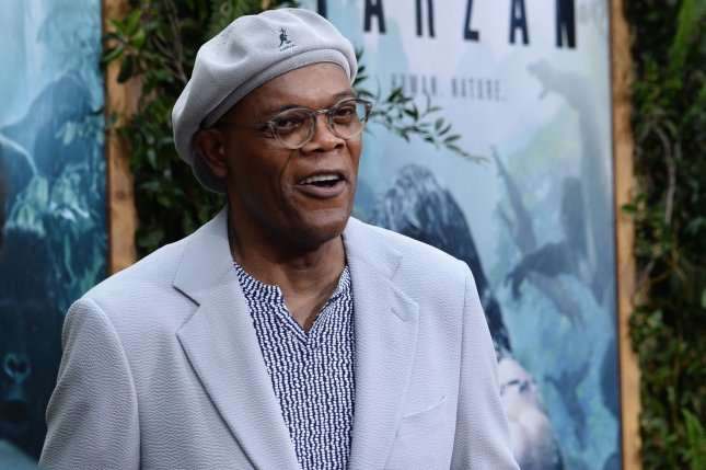 Cast member Samuel L. Jackson attends the premiere of the motion picture adventure film The Legend of Tarzan at the Dolby Theatre in the Hollywood section of Los Angeles on June 27, 2016. Photo by Jim Ruymen/UPI