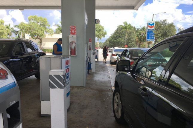 Gas prices could be moving lower into December despite some brief infrastructure problems, though OPEC may be a factor, analysis finds. File photo by Gary I Rothstein/UPI