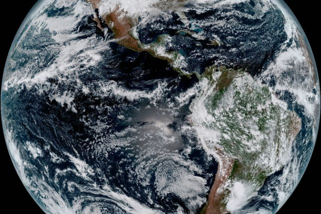 New research suggests continental crusts began to thicken and emerge from early Earth's primordial oceans much earlier than previously thought. Photo by NOAA/UPI