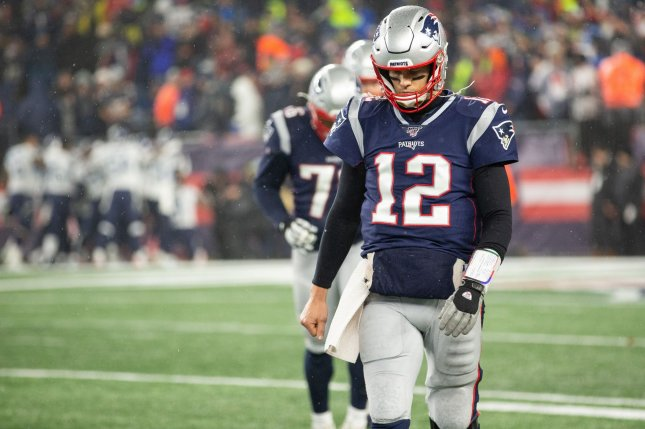 New England Patriots quarterback Tom Brady will become a free agent March 18 if the franchise fails to sign him to a contract extension. File Photo by Matthew Healey/UPI