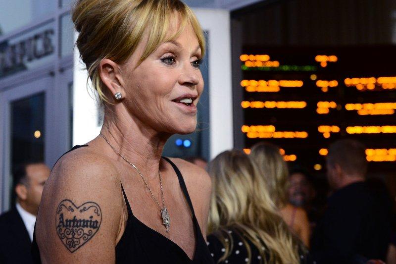 Melanie Griffith begins laser removal of 'Antonio' tattoo