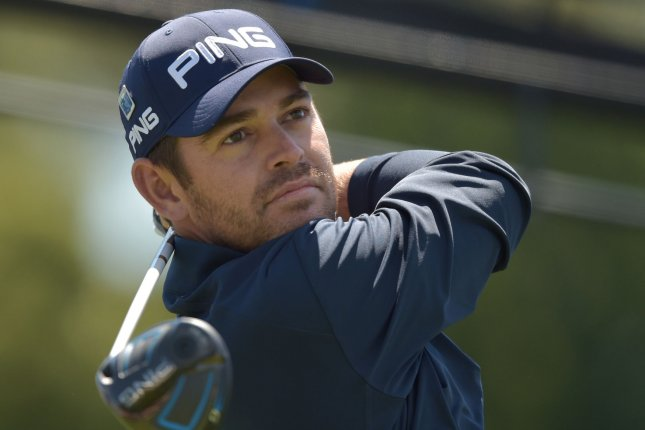 Louis Oosthuizen of South Africa hits his tee shot on the first tee box in the second round of the 2016 Masters Tournament at Augusta National in Augusta, Georgia on April 8, 2016. File photo by Kevin Dietsch/UPI