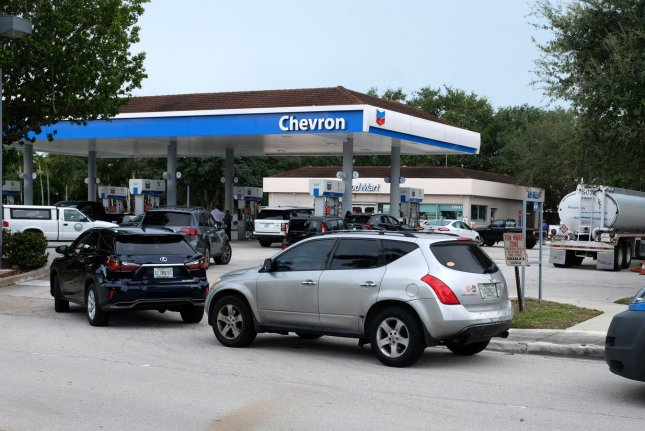 Strong consumer demand and higher oil prices means gas prices in the United States are starting to flirt with record territory. File photo by Gary I Rothstein/UPI