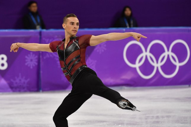 Adam Rippon will serve as a judge on Dancing with the Stars: Juniors. File Photo by Richard Ellis/UPI