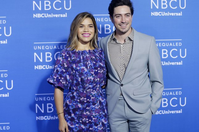 America Ferrera (L) and Ben Feldman are returning for Season 6 of Superstore on NBC. File Photo by John Angelillo/UPI
