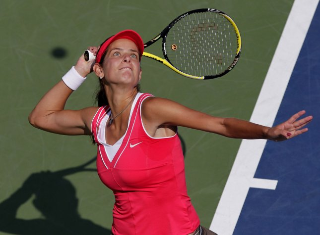 Julia Goerges, shown at last year's U.S. Open, was defeated Tuesday at the Nurnberger Gastein Ladies tennis tournament. Goerges was the No. 1 seed for the tournament. UPI/John Angelillo