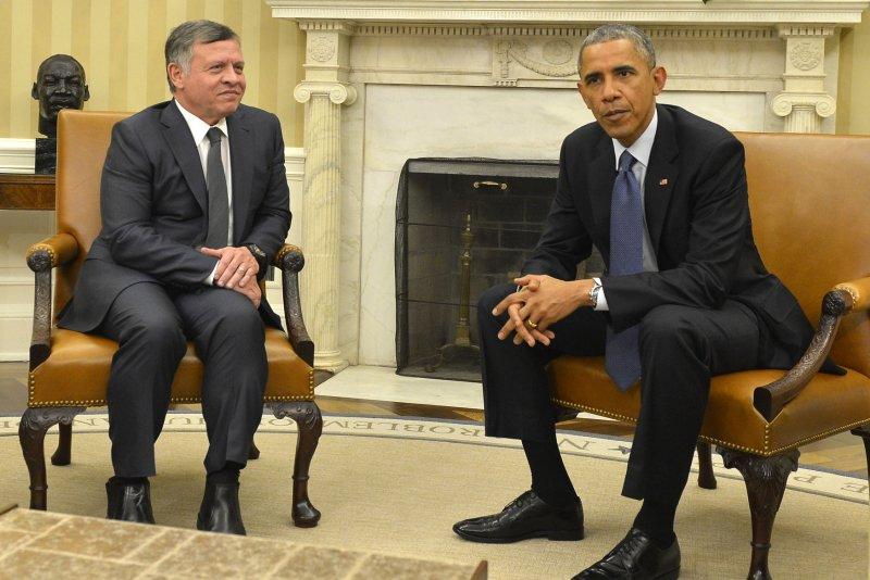 Jordanian King Abdullah II met with President Barack Obama this week in Washington. Photo by Mike Theiler/ UPI