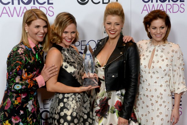Jodie Sweetin (second from right), pictured with Lori Loughlin, Andrea Barber and Candace Cameron Bure (L-R), said she can't wait to start filming Fuller House Season 4. File Photo by Jim Ruymen/UPI