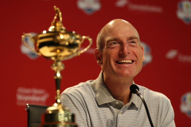 Ryder Cup captain Jim Furyk announces the 2018 team during a press conference on Monday at Bellerive Country Club in Town and Country, Mo. Photo by Bill Greenblatt/UPI