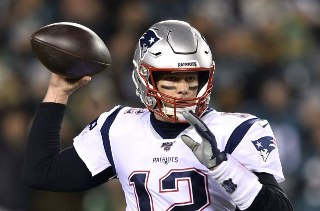 New England Patriots quarterback Tom Brady was a late addition to the Patriots' injury report this week with an elbow injury. Photo by Derik Hamilton/UPI