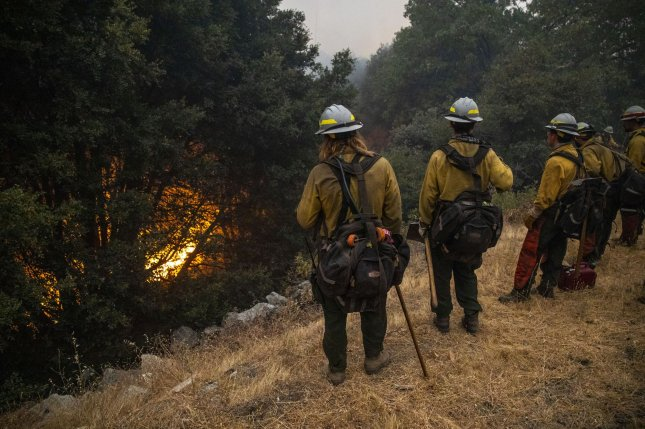 The 471,185-acre August Complex Fire has become the largest fire in California's history as at least 16 people have died in wildfires that have burned 4.4 milion acres in the western United States.  Photo by Peter DaSilva/UPI