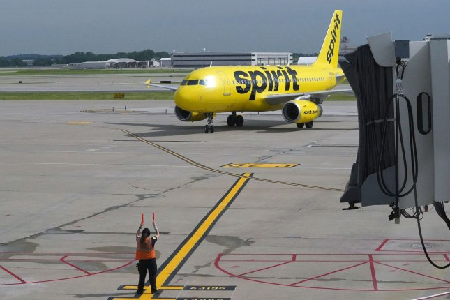 About 80% of all flight cancellations in the United States on Thursday belonged to Spirit.File Photo by Bill Greenblatt/UPI